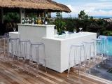Bar set up with ghost chair