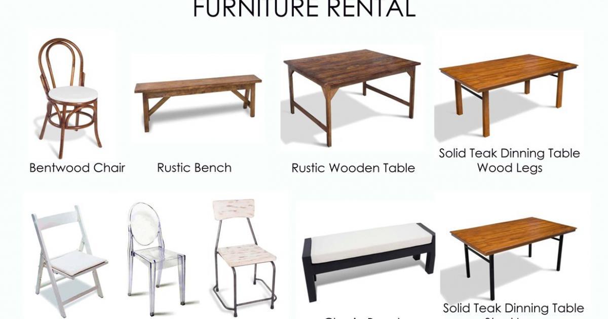 furniture wedding rental
