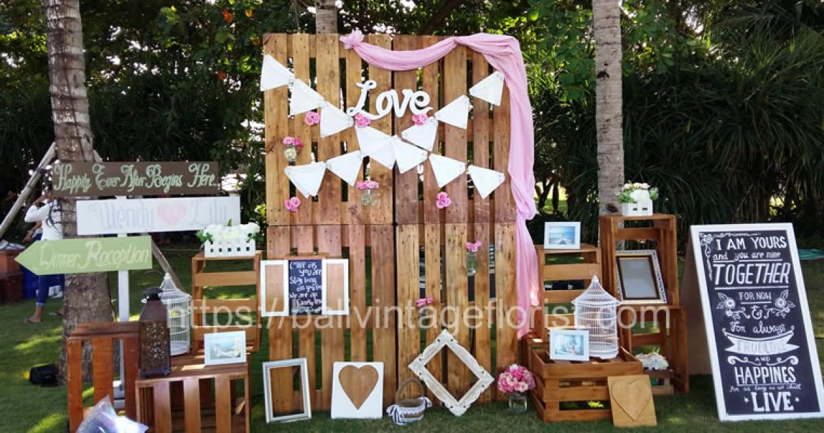 Wedding Reception Wendy And Lily Bali Vintage Florist